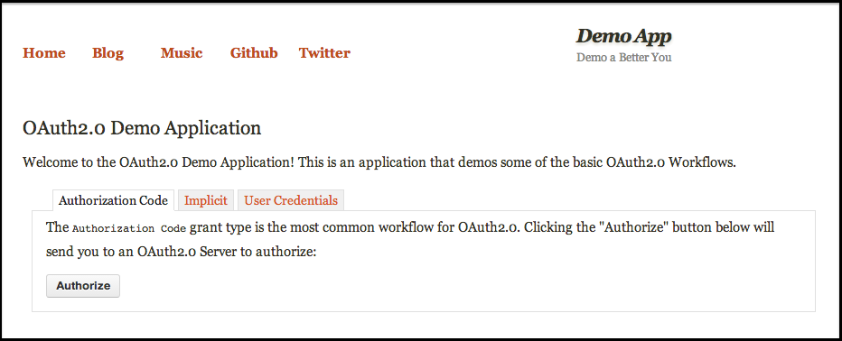 OAuth Demo Application